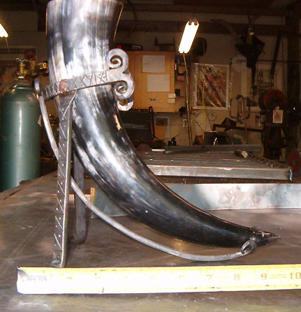 Viking Age Drinking Horn And Stand White Hart Forge